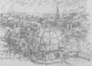 56 domes and spires drawing
