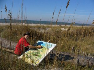 painting dunes