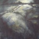 Dark landscape / acrylic